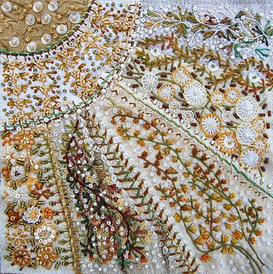 Fan Crazy and WOW! My Crazy Quilt is NO WHERE near as encrusted...gotta step up my game plan....