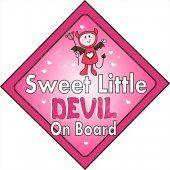SWEET LITTLE DEVIL on Board - Window Car Sticker - baby on board - Babies safer decal  #kasefazem  #thecraftstar  $4.60