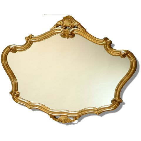 Decorative Gold Mirrors. Decadently carved ornate Gold Antique Effect wall mirror  36x28 Inches Exquisitely decorative gold
