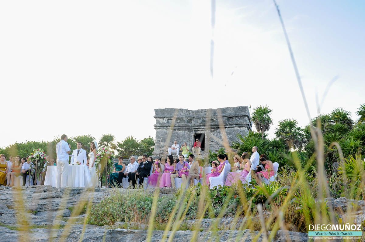 Grand Flamingo Xcaret Wedding Sand Ceremony At The Mayan Ruins
