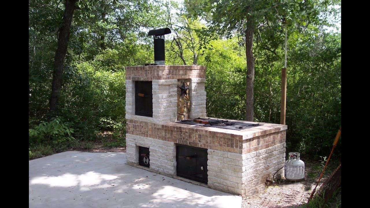 Building a brick bbq smoker youtube brick bbq