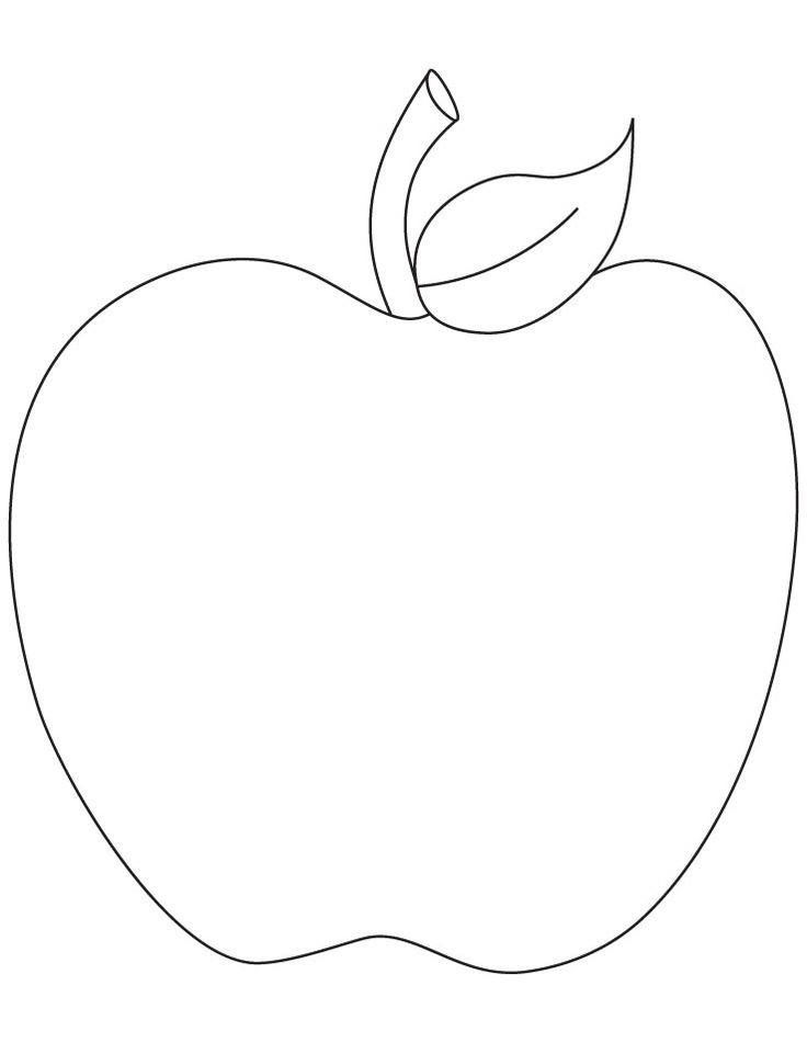 This is a graphic of Versatile Apple Stencil Printable
