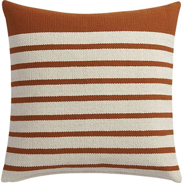 Division Rust 40 Pillow With Downalternative Insert CB40 Round Gorgeous Cb2 Decorative Pillows
