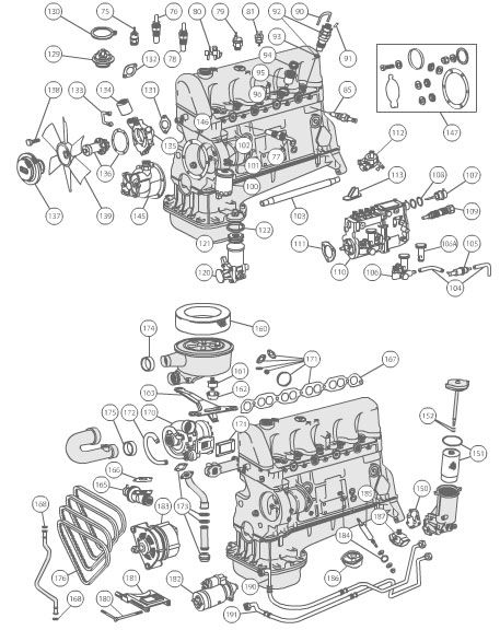 Mercedes Engine 1982-85 300d Turbodiesel (external Engine