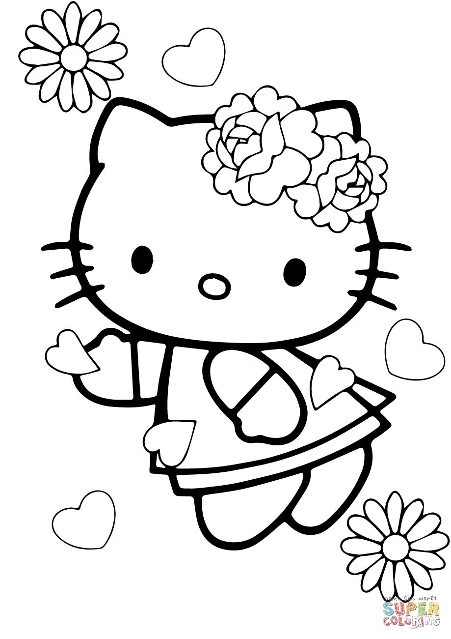 Hello Kitty Valentine Coloring Pages Free Hello Kitty Coloring