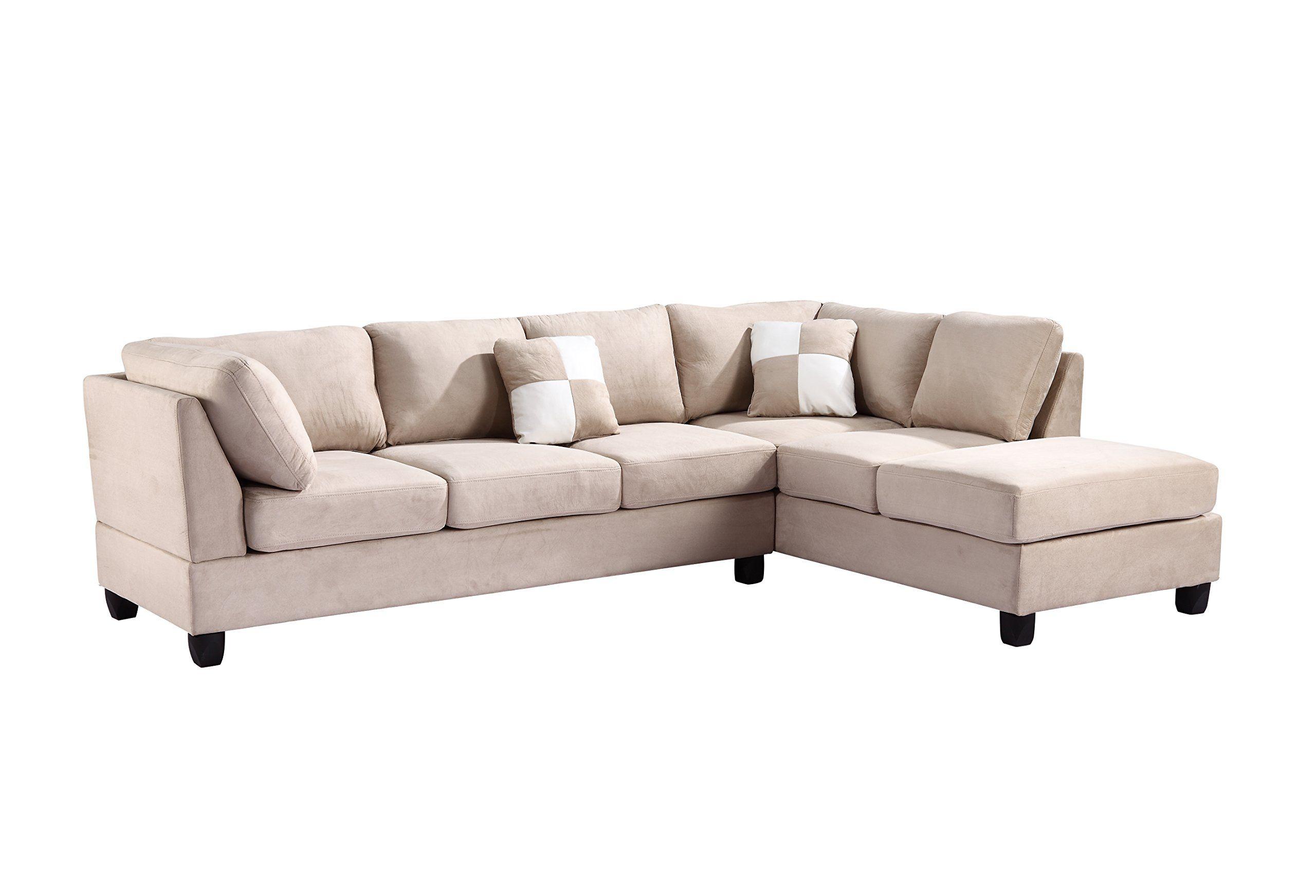 Amazon Com Glory Furniture G631 Sc Sectional Sofa Beige 2