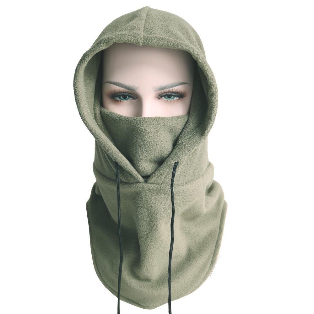 adabfc3768c Balaclava Fleece Hood Windproof Ski Mask Heavyweight Cold Weather Winter  Green  XINGZHE