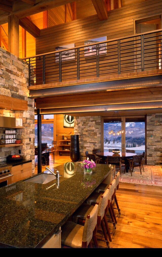 Cuisine style montagne | Cuisines | Decoration, Déco maison et Maison