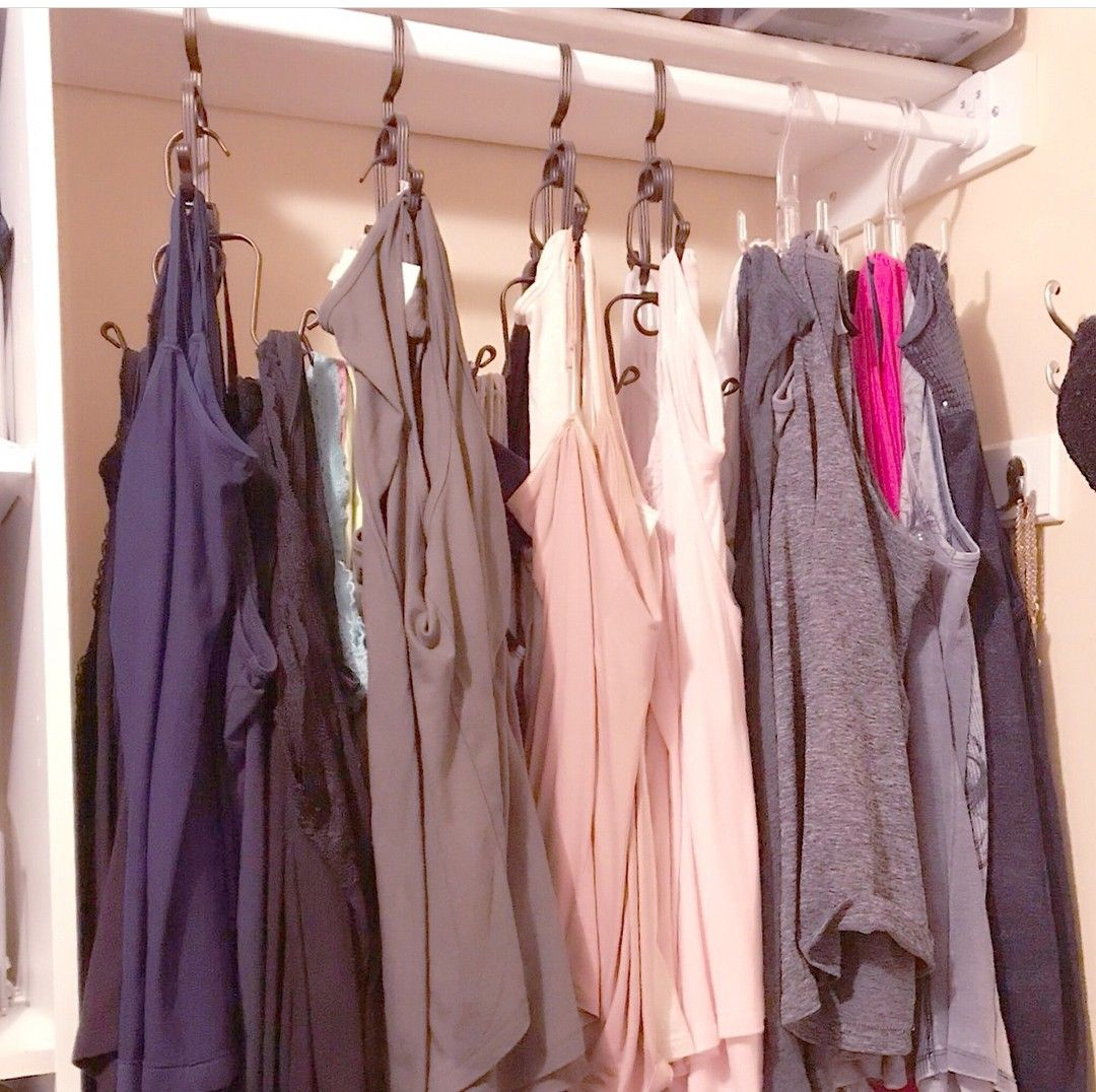 2 Tier Hanging Racks From Bed Bath And Beyond Closet Organization
