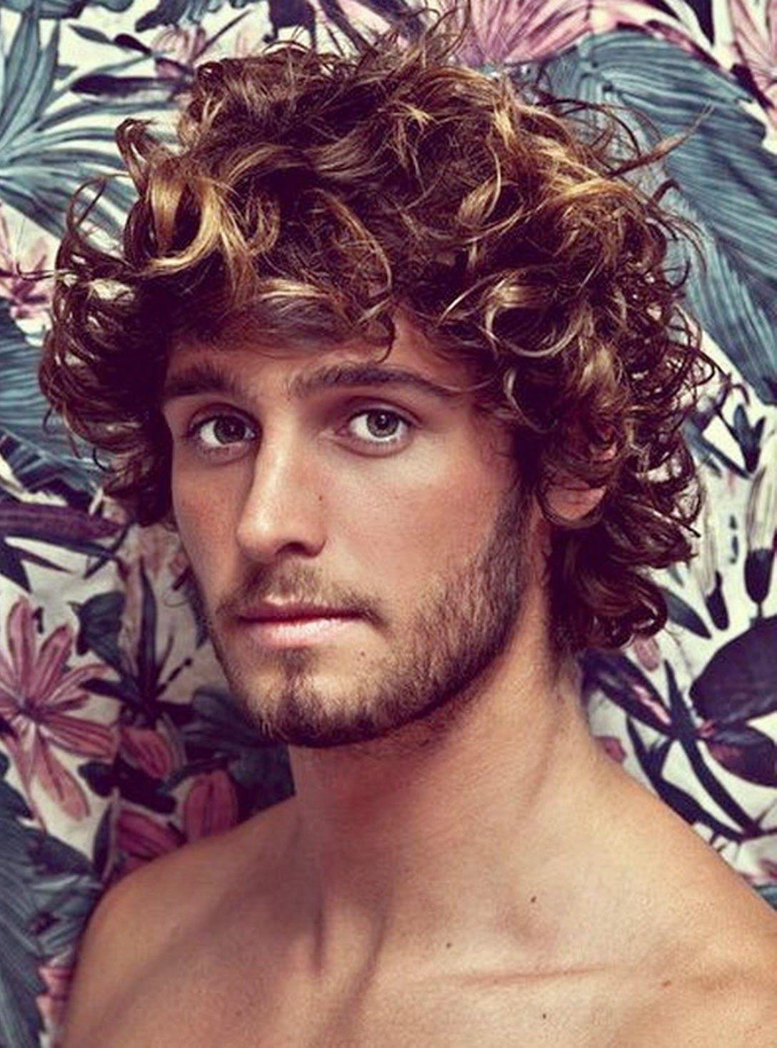 Medium haircuts for men with thick hair corte mediopelo rizadohombre  men  gods  erotica   pinterest