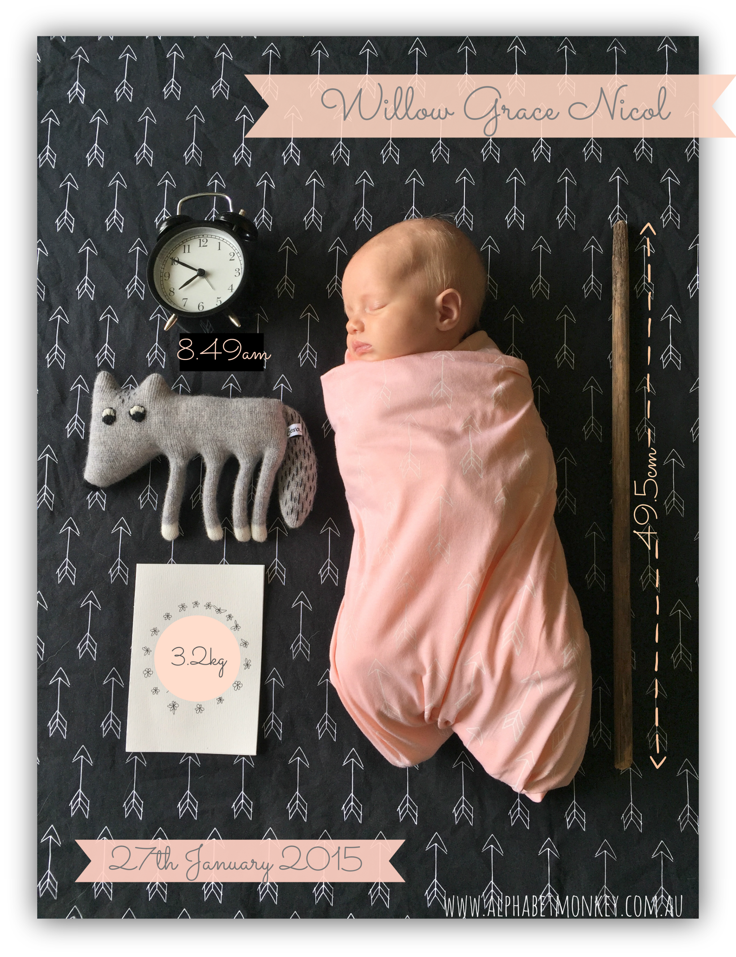 17 Best images about Birth Announcements – Diy Birth Announcements