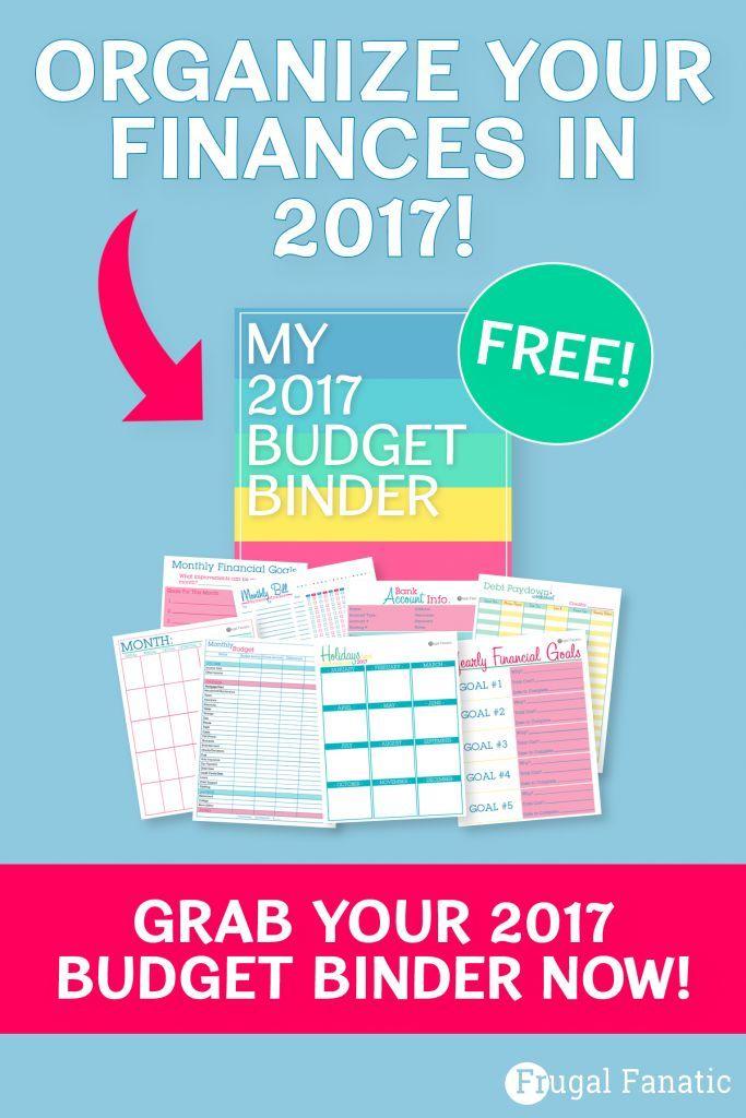 2017 Budget Binder – free worksheets | Pinterest | Sparen, Ordnung ...