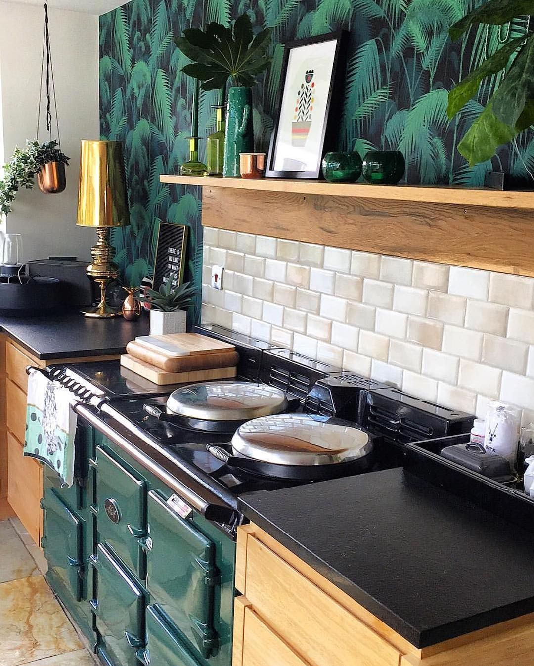 emerald green warm woodgrains emeraldgreen palmwallpaper home kitchens kitchen kitchen on kitchen ideas emerald green id=36834