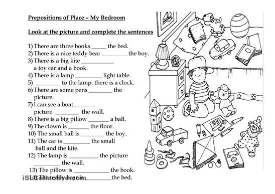 190 Free Esl Prepositions Of Place Worksheets