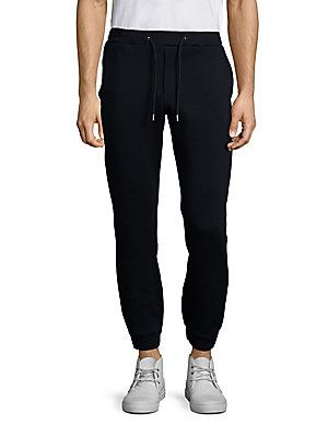 MSGM Virgin Wool Blend Pique Sweatpants - Navy - Size