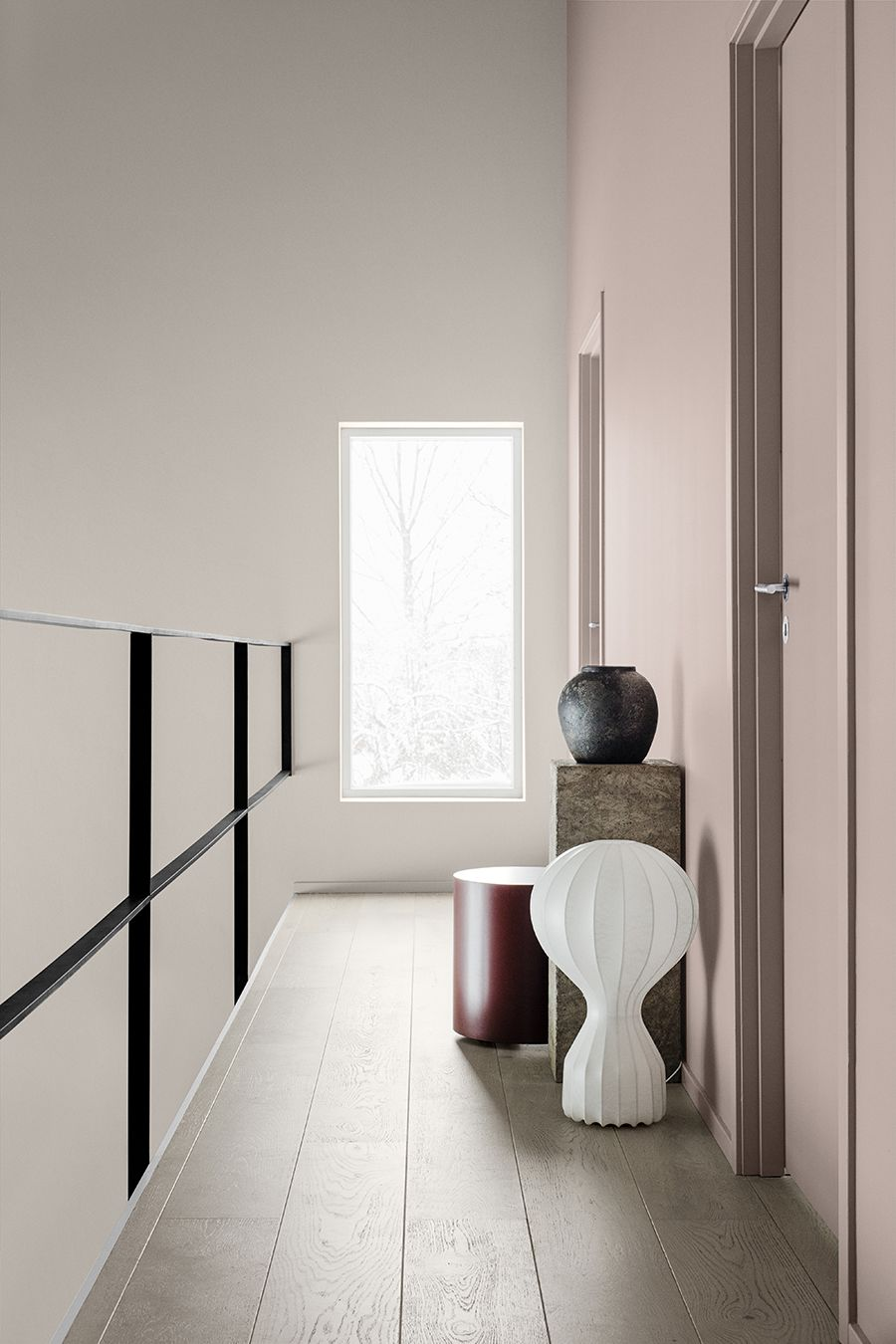 Flur Mit Rosa Wandfarbe Modern Skandinavisch Schlicht Reduziert Einrichten  Wohnen Dekorieren Interieur Interior Design Wohnidee Wohninspiration