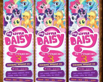My Little Pony Invitation My Little Pony Invite My Little Pony