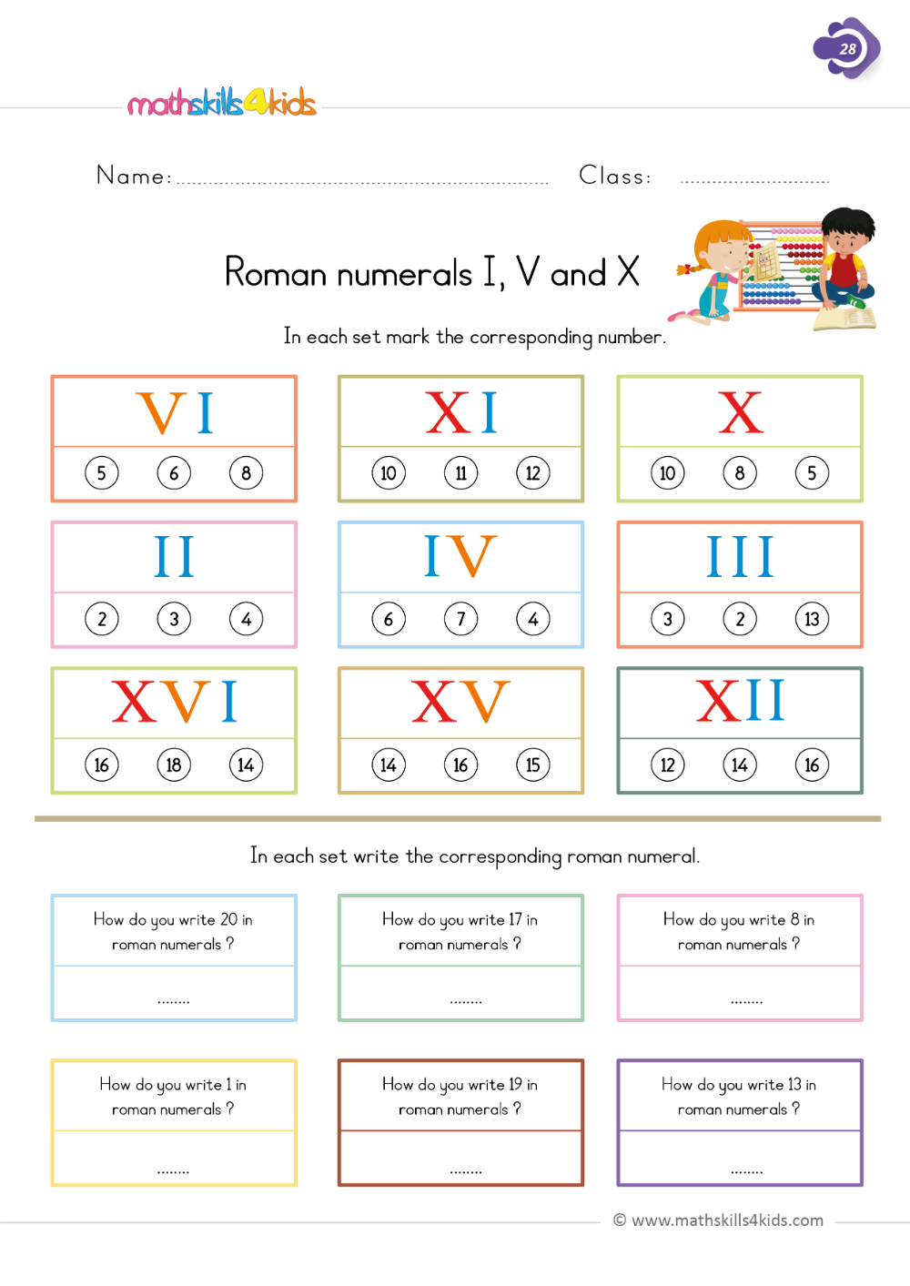 medium resolution of Roman numerals I
