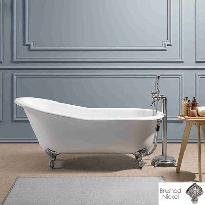 Chevington Mila 61 X 30 Clawfoot Soaking Bathtub Soaking