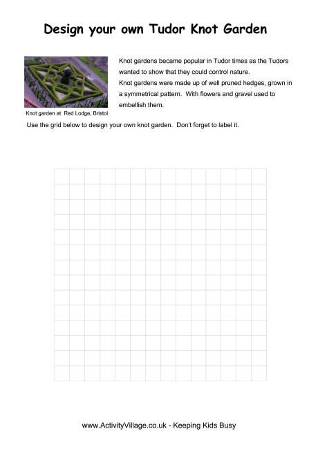 Worksheet For Be Quiet : Tudor knot garden worksheet oktouse sca youth quiet