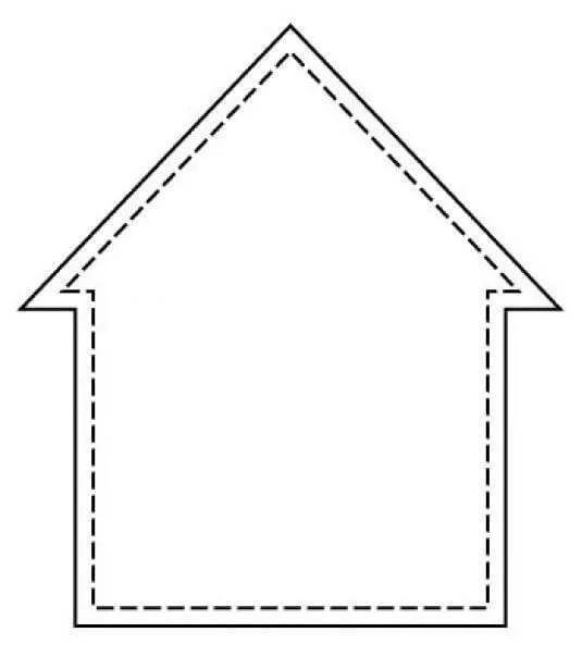Днем охраны, шаблон открытка домик