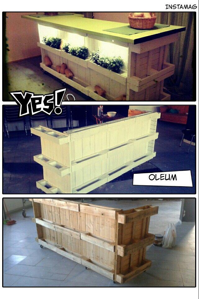 Mostrador de palets muebles pallets pinterest - Mostrador de palets ...