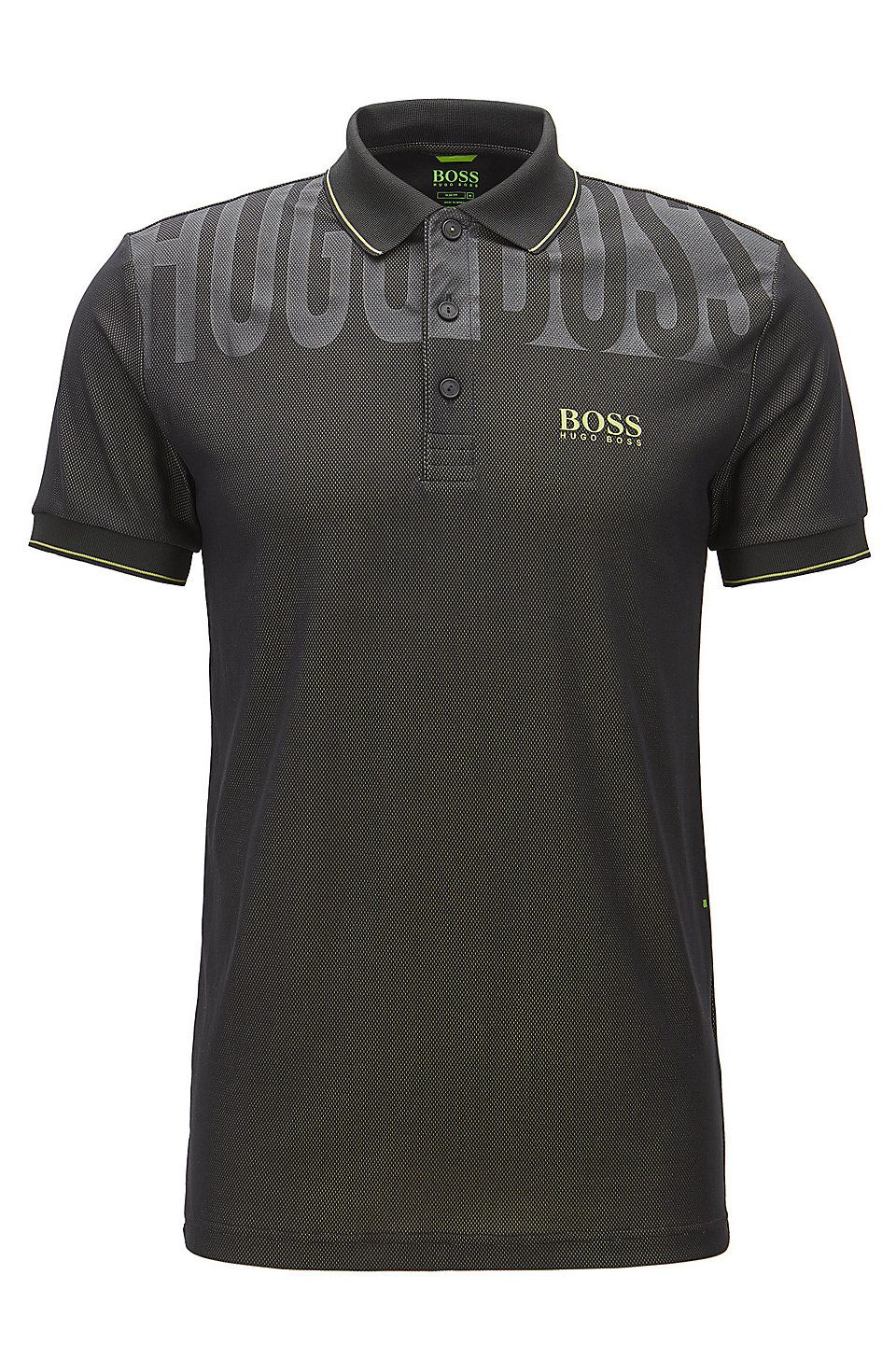 f6edcc7c28f Stretch Graphic Polo Shirt, Slim Fit | Paule Pro Black from BOSS Green for  Men