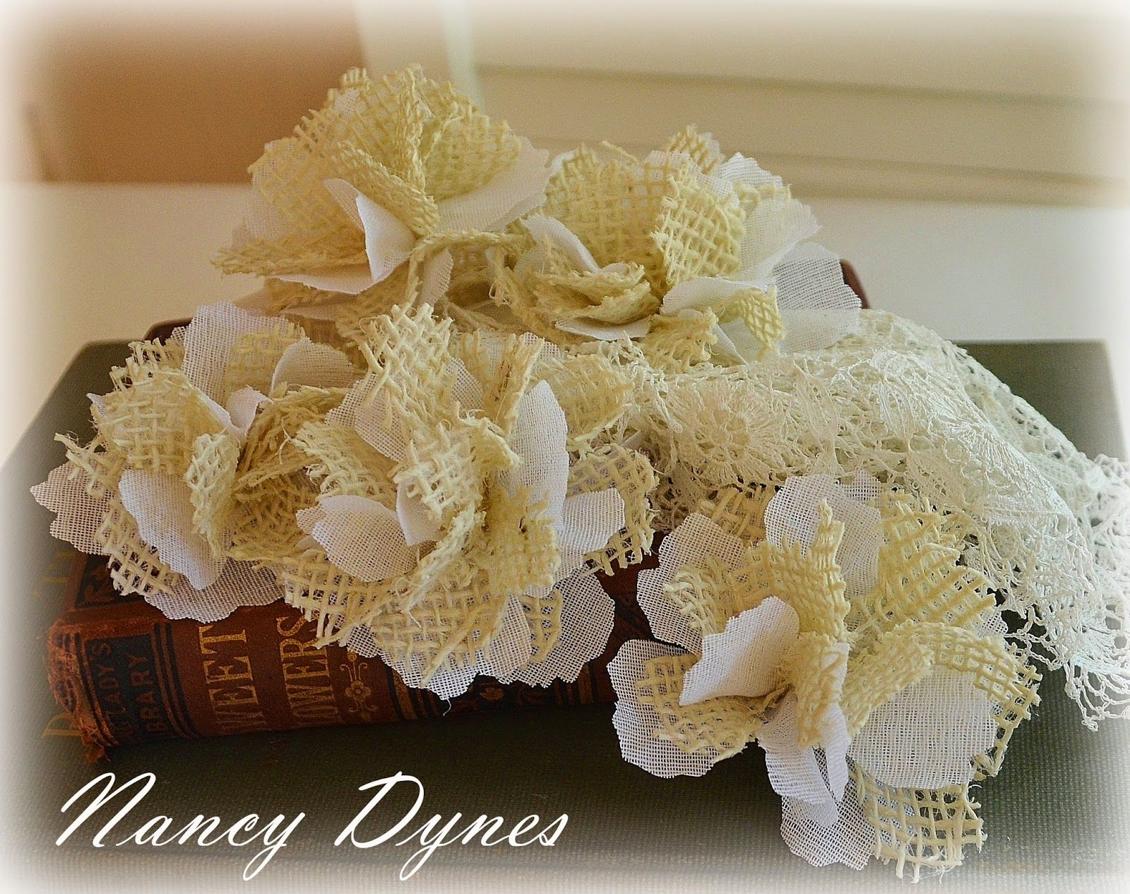 Frilly and Funkie: Friday Focus: Burlap Flower Tutorial! Made with my favorite die.