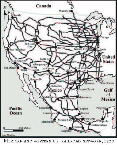 Mexican And Western US Railroad Network From Our Book - Us railroad map 2016