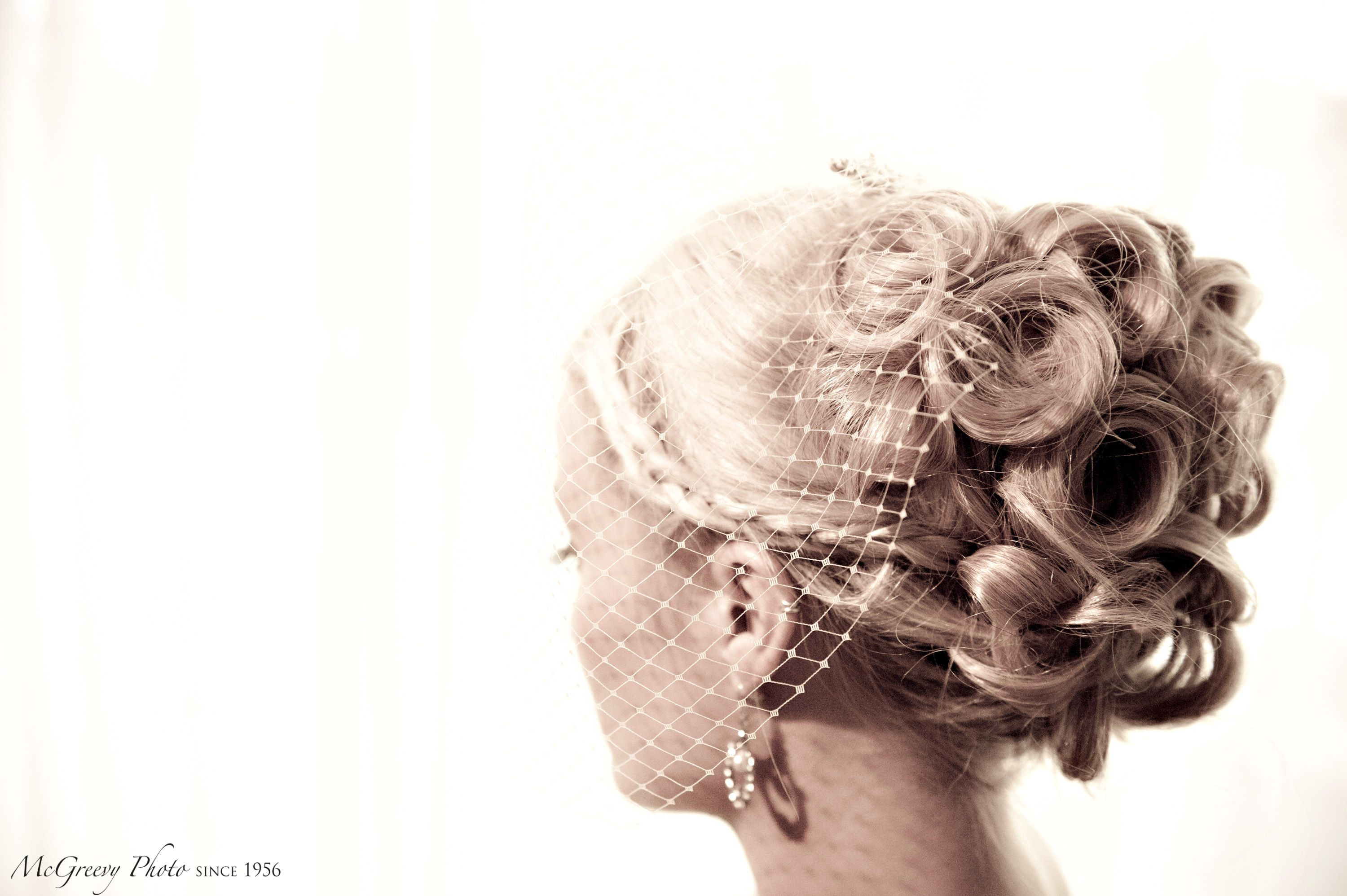 long hair convertible (up for the ceremony, down for the reception