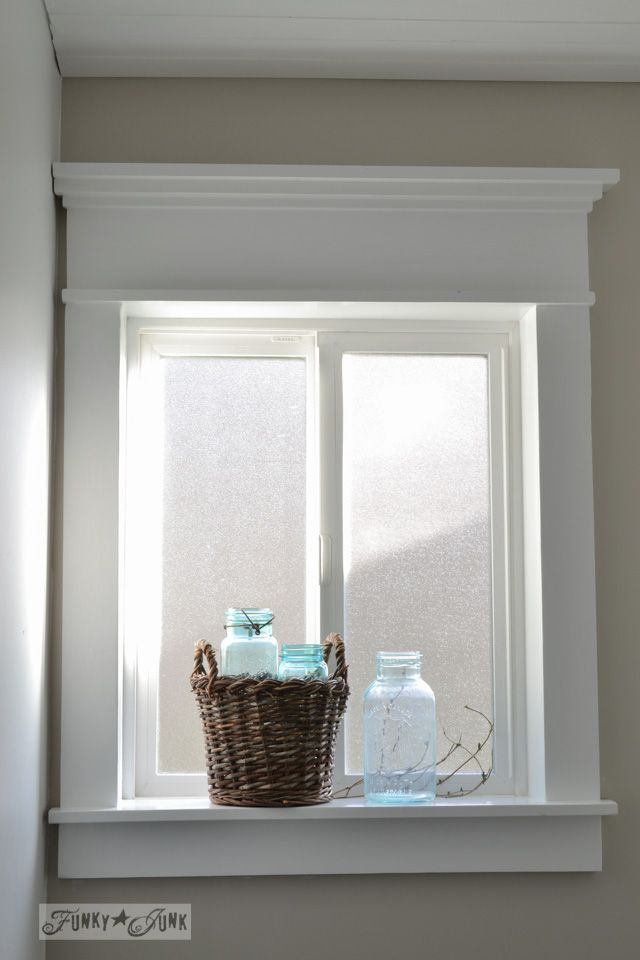 Bathroom Window Molding how to make a farmhouse window with moulding | window trims