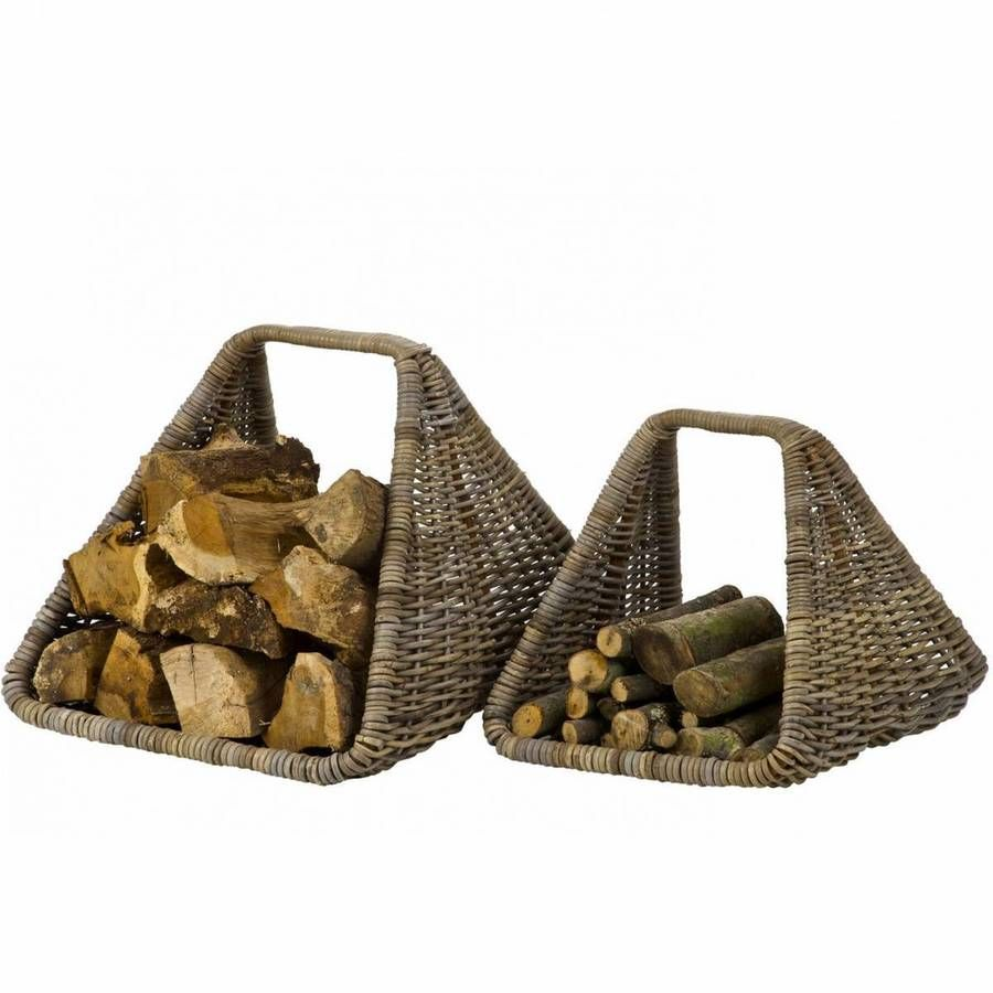 contemporary rattan log carrier by marquis u0026 dawe