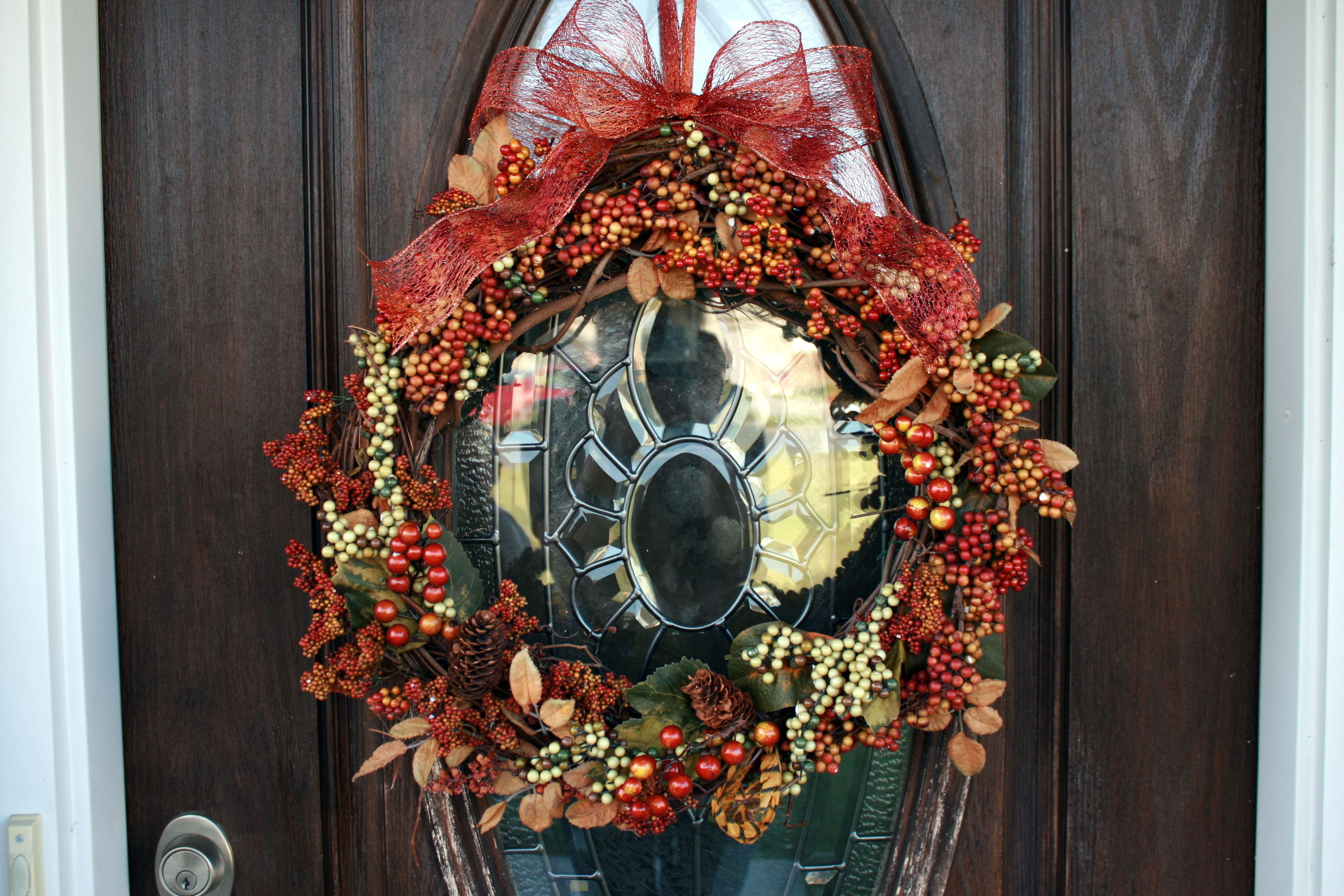 Holiday wreath I made