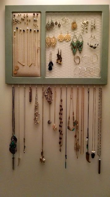 DIY Jewelry Organizer House Full of Pretty crafts Pinterest