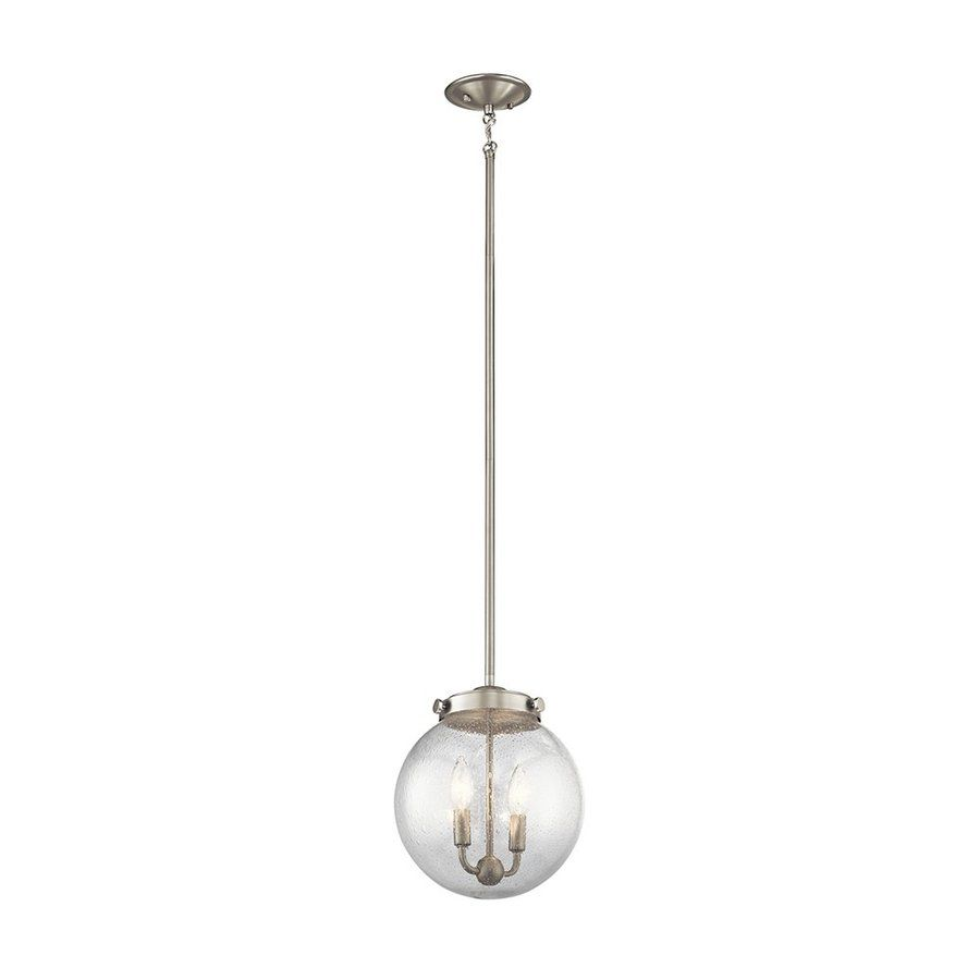 Lowes Pendant Lighting Prepossessing Shop Kichler Lighting Holbrook 10In W Brushed Nickel Pendant Light Decorating Design