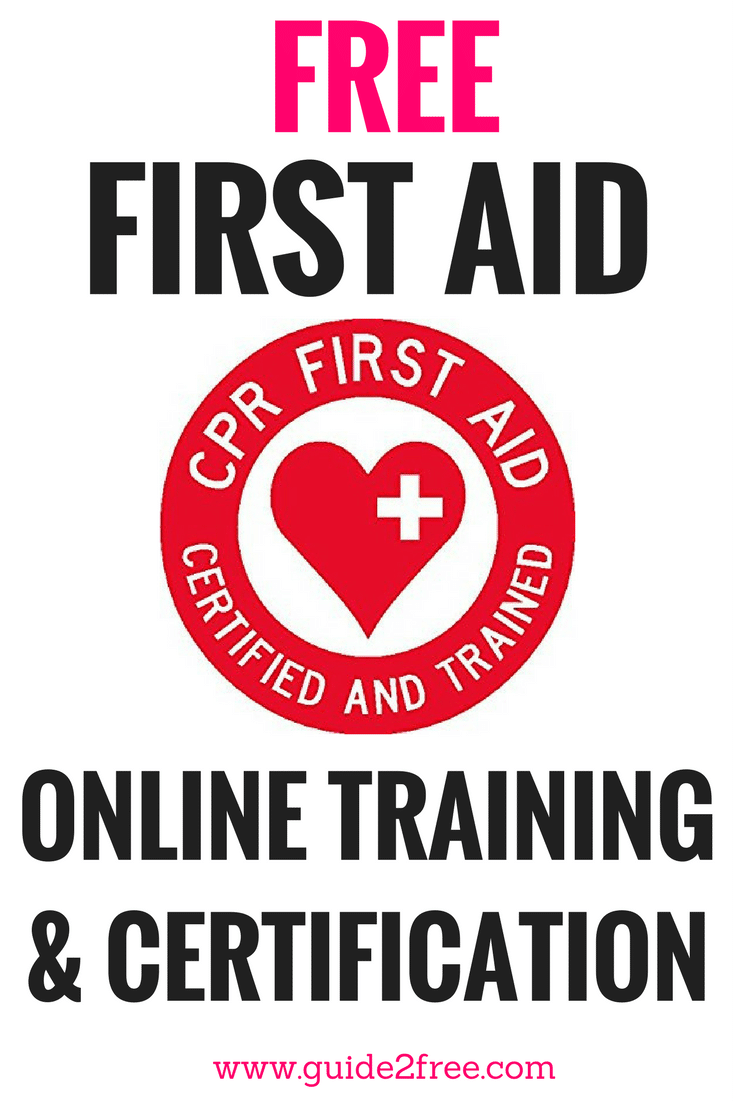 Free Online First Aid Training Courses Family Pinterest Free
