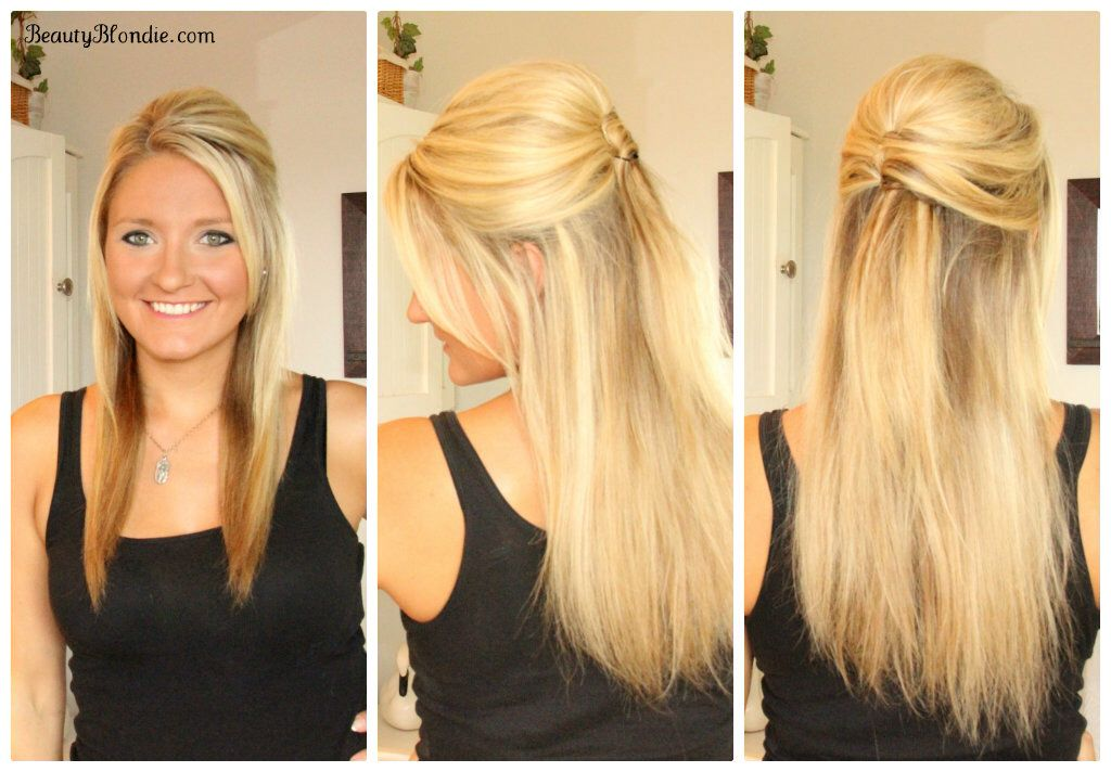 straight hair updo. french