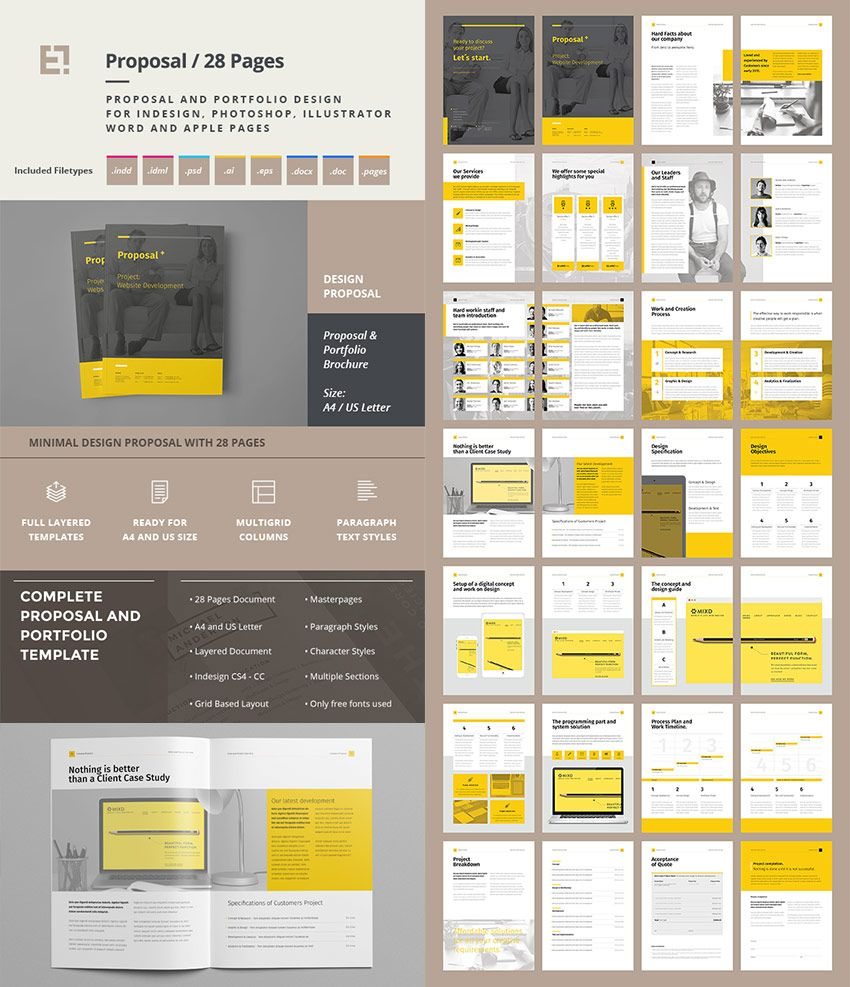 Creative Project Proposal Template Set Graphic Design