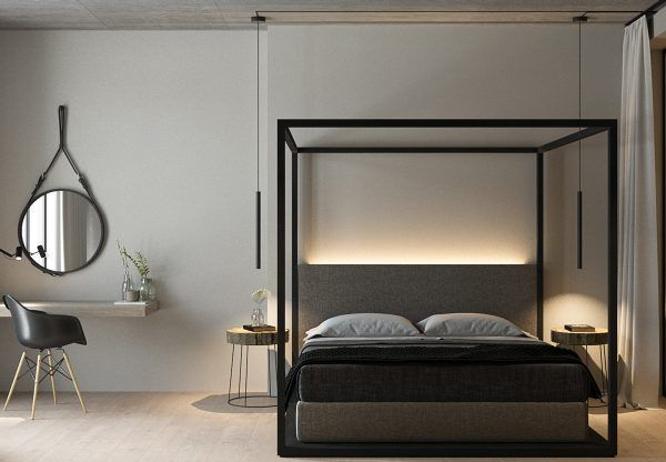 32 Fabulous 4 Poster Beds That Make An Awesome Bedroom Modern Minimalist Bedroom Minimalist Bedroom Small Minimalist Living Room