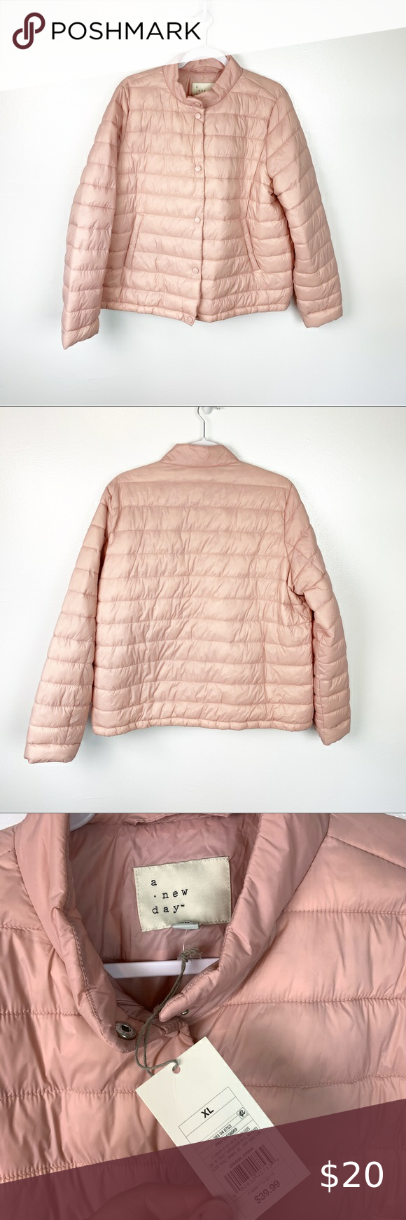 A New Day New Blush Pink Puffer Jacket Coat Xl A New Day Coats Jackets Puffer Jackets [ 1740 x 580 Pixel ]
