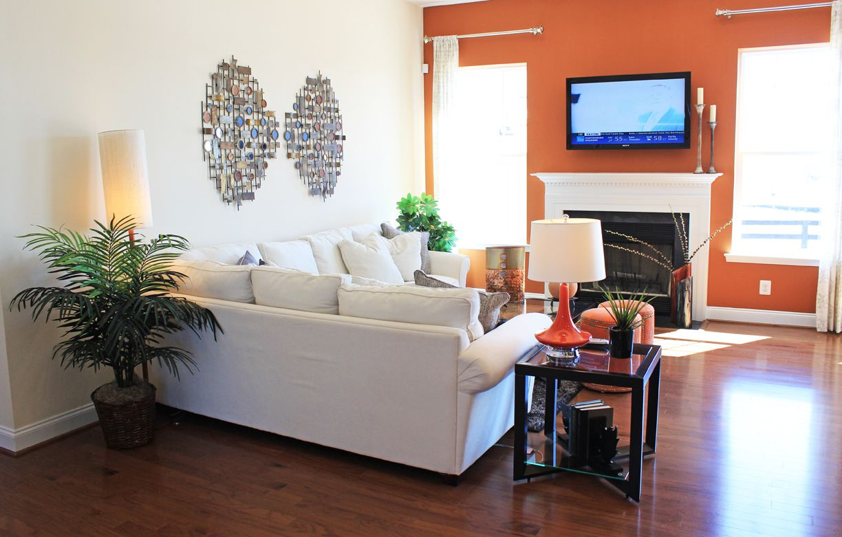 #livingroom #homedecor #orange #accents In The Lewis Model Home At Arcadia  Springs