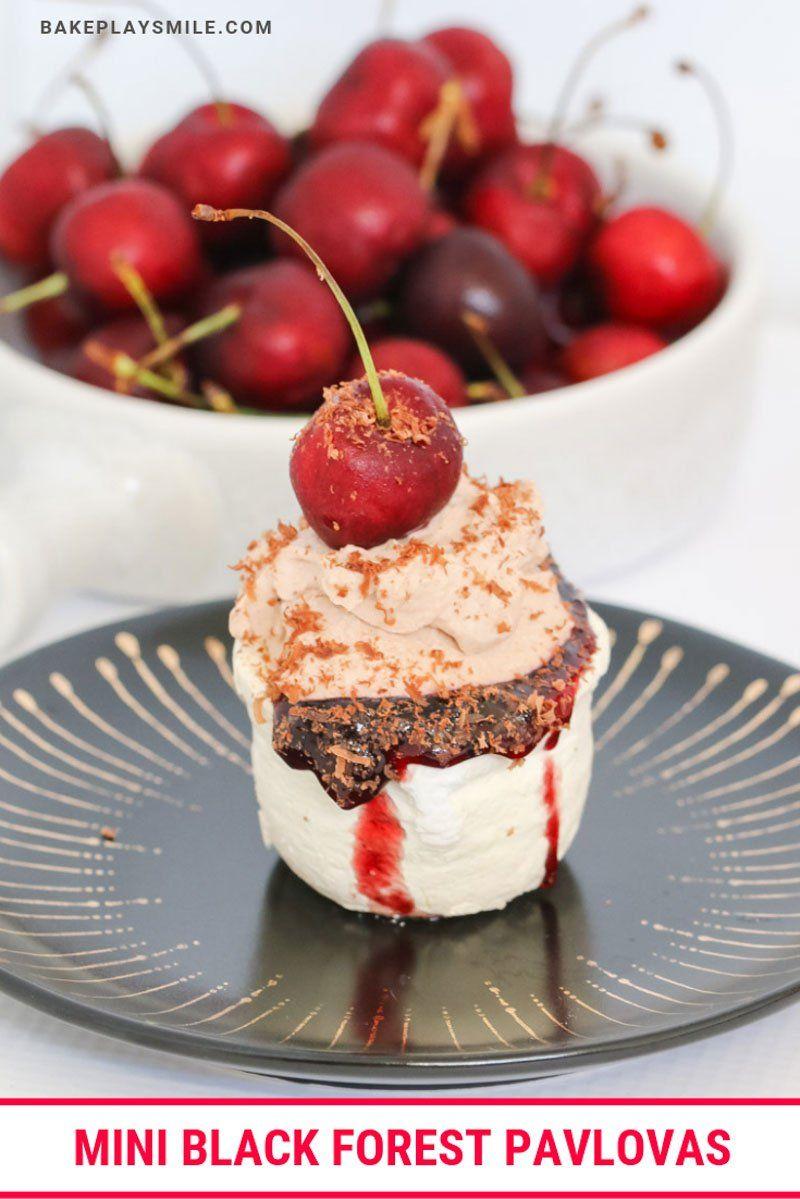 Mini Black Forest Pavlovas Recipe Cherry Desserts Wine Desserts Bite Size Desserts