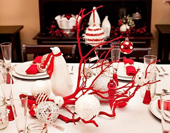 Red And White Table Centerpiece Red Christmas Decor Christmas Table Decorations Centerpiece Christmas Decorations Dinner Table
