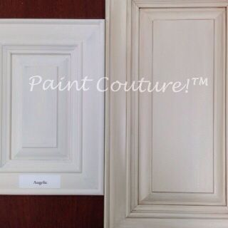Angelic Paint Couture Tm Before And After Champagne Glaze Couture Add Some Soft Metallic To You Painting Oak Cabinets Paint Couture Kitchen Cupboards Paint