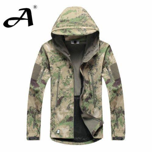 06021c55ce4c Army Camouflage Coat Military Jacket Waterproof Windbreaker Raincoat  Clothes Army Jacket Men Jackets And Coats