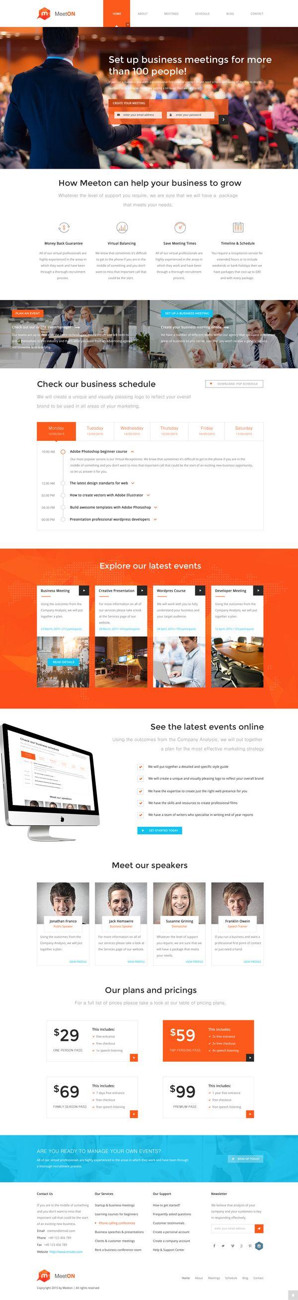 Meeton – Conference & Event WordPress Theme   HTML5 Templates ...