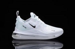 Mens Nike Air Max 720/270 Running Shoes White black NIKE008117
