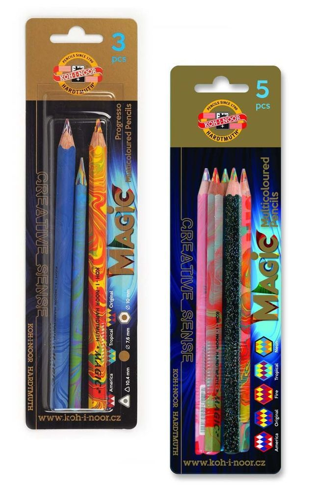 bf0924544 Koh-I-Noor Jumbo Special Coloured Magic Pencils - blister pack of 3 or 5    Crafts, Art Supplies, Drawing & Lettering Supplies   eBay!