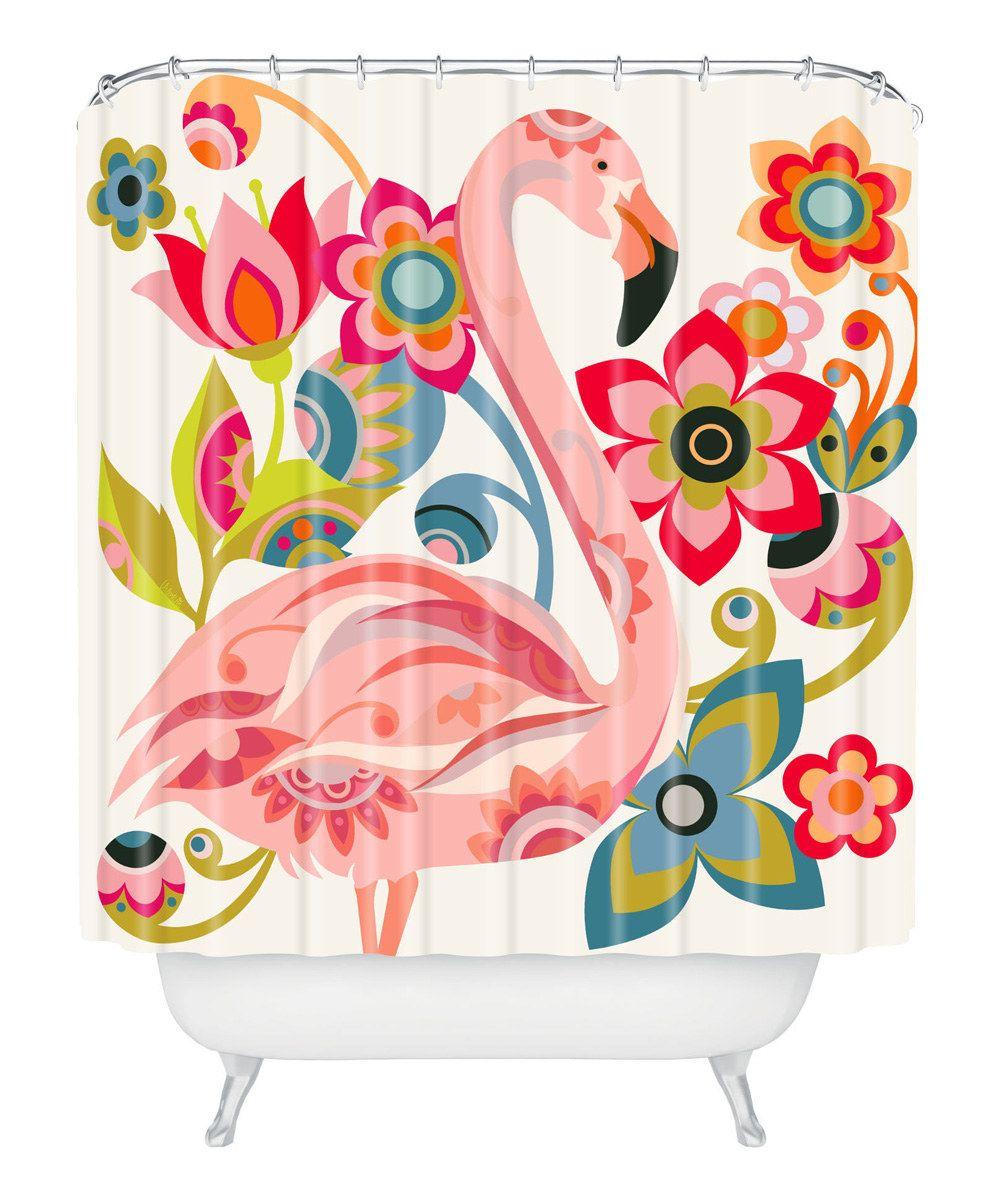 Flamingo bathroom decor - Flamingo Shower Curtain More
