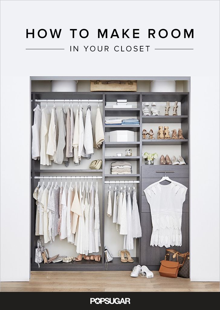 Simple Ways To Make More Room In Your Closet This Spring.